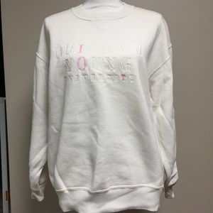 RUSSELL ATHLETIC Brigham Young White XL Sweatshirt